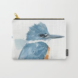 Belted Kingfisher watercolor Carry-All Pouch