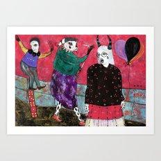 Balloons Partisan Art Print