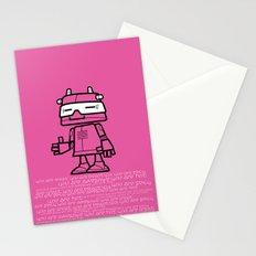 Ze Robot, Pink :) Stationery Cards