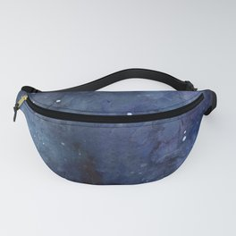 Galaxy Nebula Watercolor Night Sky Stars Outer Space Blue Texture Fanny Pack