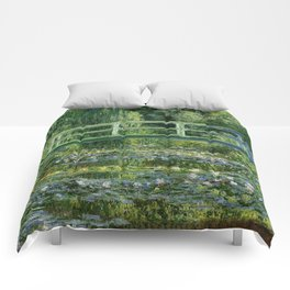 Water Lilies And The Japanese Bridge Claude Monet Comforters