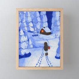 Following traces Framed Mini Art Print