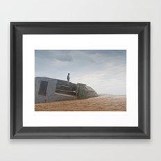 World war bunker ocean Framed Art Print