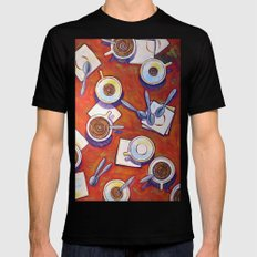 The Get Together ... Coffee Art MEDIUM Mens Fitted Tee Black