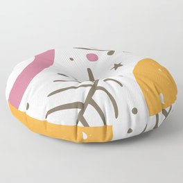 Apple, lemon and branches Floor Pillow
