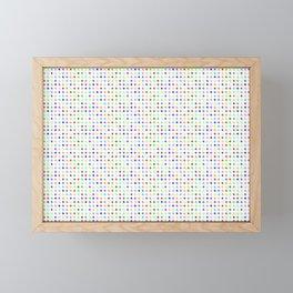 Multicolor Circles Framed Mini Art Print