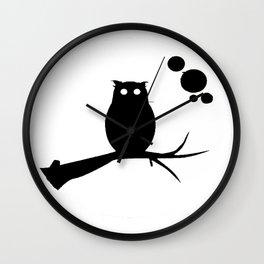 the owl awake Wall Clock