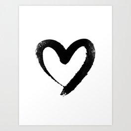 Ink Heart Minimal Fashion Stylish Art Print