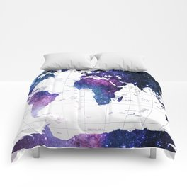 ALLOVER THE WORLD-Galaxy map Comforters
