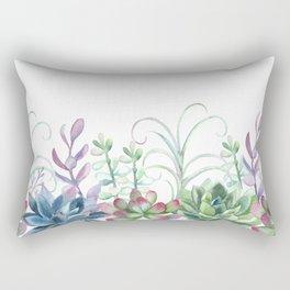 Succulents in The Garden Rectangular Pillow