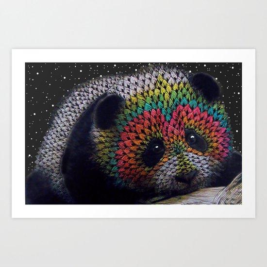 Rainbow Panda Art Print