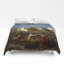 "Eugène Delacroix ""The Fanatics of Tangier"" Comforters"