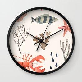 Sealife Schoolchart Wall Clock