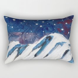 Night Mountain Rectangular Pillow