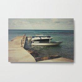 Glass Bottom Boat Metal Print