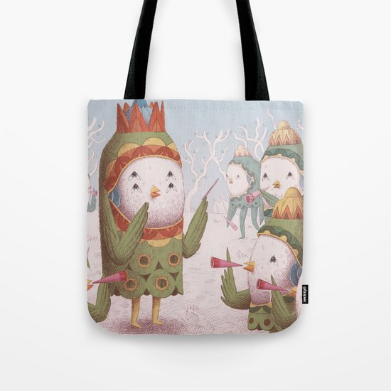 Trumpet Bird Orchestra Tote Bag