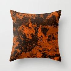 Galaxy in Orange Throw Pillow