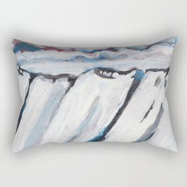 Night Mountain IV Rectangular Pillow