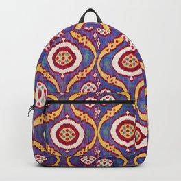 Silk Ikat Uzbekistan Parda Print Backpack