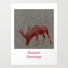 Season's Greetings 01 Art Print