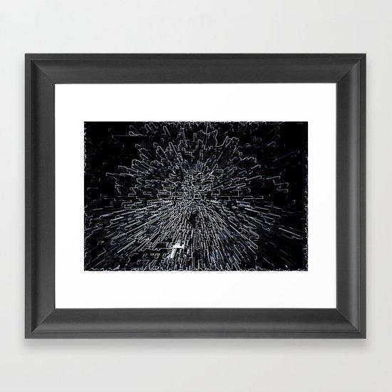 Digital Art Abstract Framed Art Print