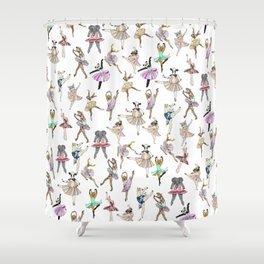 Animal Square Dance Shower Curtain
