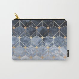 Blue Hexagons And Diamonds Carry-All Pouch