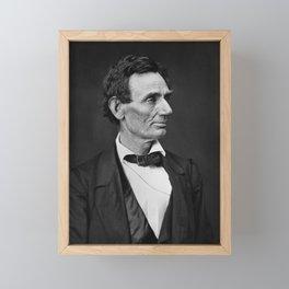 Abraham Lincoln Photo Portrait Framed Mini Art Print