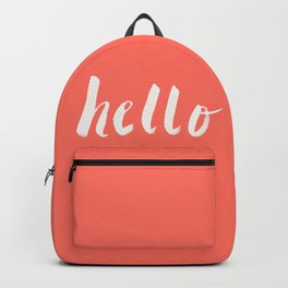 Hello x Coral Script Backpack
