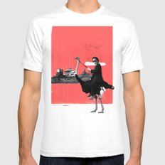 Lone Ranger SMALL White Mens Fitted Tee