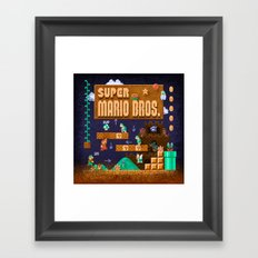 Mario Super Bros Framed Art Print