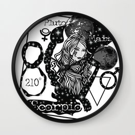 Scorpio - Zodiac Sign Wall Clock
