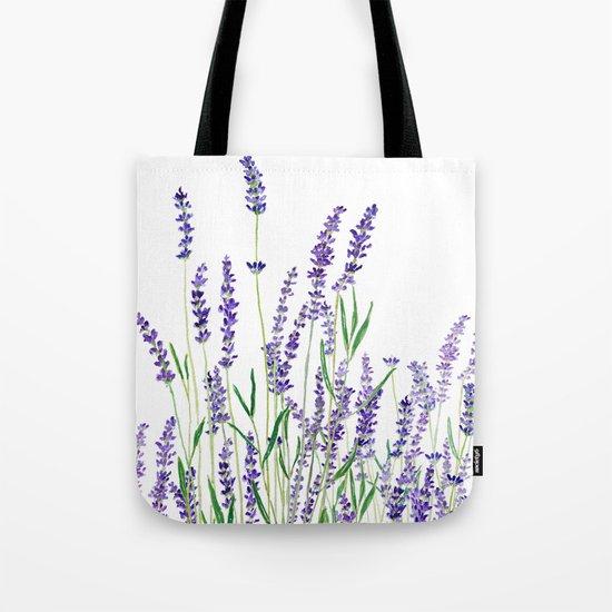 lavender watercolor horizontal Tote Bag