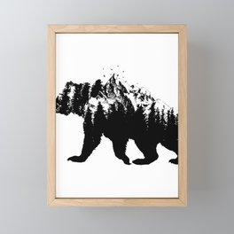 Bear National Park For Camping Hiking Travel Framed Mini Art Print