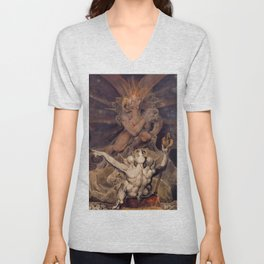 The Number of the Beast is 666 - William Blake Unisex V-Neck