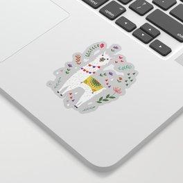 Festive Llama Sticker