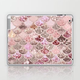 Rose Gold Blush Glitter Ombre Mermaid Scales Pattern Laptop & iPad Skin