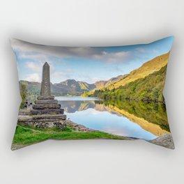 Crafnant Lake Obelisk Rectangular Pillow