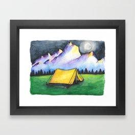 Yellow Tent Framed Art Print