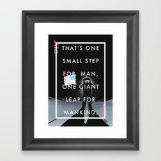 One Small Step Framed Art Print