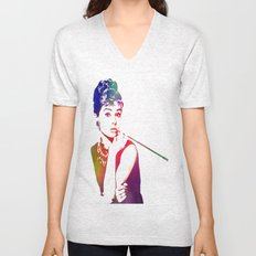 Audrey Hepburn Breakfast at Tiffany's Unisex V-Neck