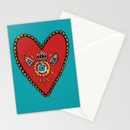 Sacred SteamHeart Stationery Cards
