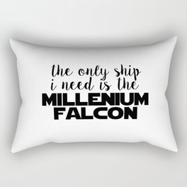 the only ship i need is the millenium falcon white Rectangular Pillow