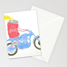I love moto and beer Stationery Cards