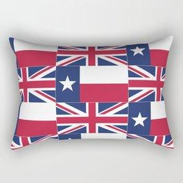 Union Jack Texas Flag Rectangular Pillow