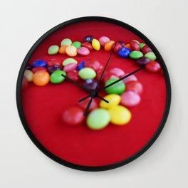 Skittles Swirls Wall Clock