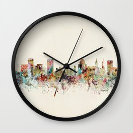 baltimore maryland skyline Wall Clock
