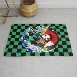 Demonslayer Tanjiro Rug