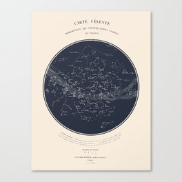 Carte Celeste Canvas Print