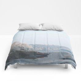 Frozen landscape Comforters